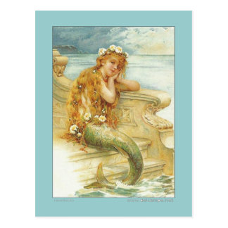 VINTAGE MERMAID POSTCARD IMAGE