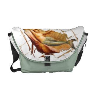 Vintage Mermaid Rickshaw Messenger Bag