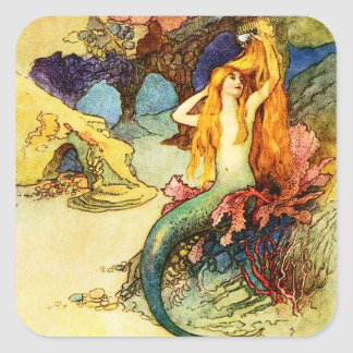 Vintage Mermaid Stickers