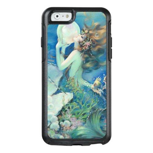 Vintage Mermaid w Pearl Nautical Ocean Nautical Phone Case