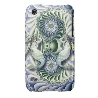 Vintage Mermaids in  Fantasy Ocean iPhone 3 Covers
