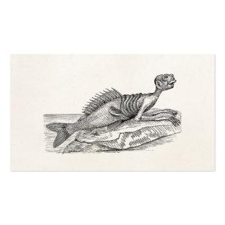 Vintage Merman Mermaid Sea Creature Monster Retro Business Card