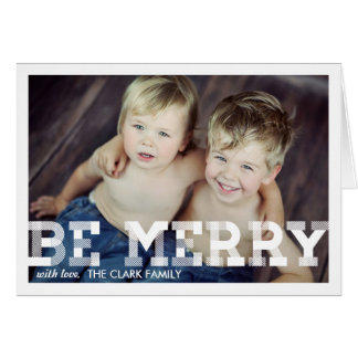 Vintage Merriment Christmas Photo Greeting Card