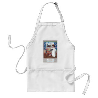 Vintage Merry Christmas Adult Apron