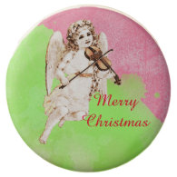 Vintage Merry Christmas Angel Chocolate Dipped Oreo