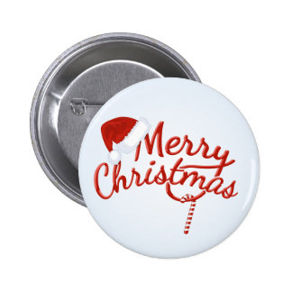 Vintage Merry Christmas Candy 2 Inch Round Button
