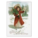 Vintage Merry Christmas Card