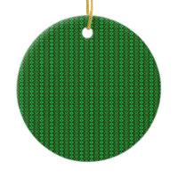Vintage Merry Christmas Green Ornament
