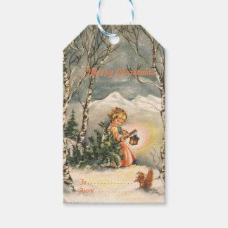 Vintage Merry Christmas Holiday Gift Tags