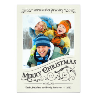 Vintage Merry Christmas Holiday Photo Card
