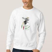 Vintage Merry Christmas Moose Ornaments Sweatshirt