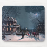 Vintage Merry Christmas Mouse Pad