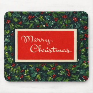 Vintage Merry Christmas Mouse Pads