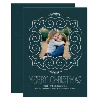 Vintage Merry Christmas Photo Card