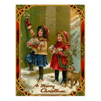 Vintage Merry Christmas Postcard