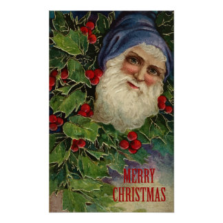 Vintage Merry Christmas Poster