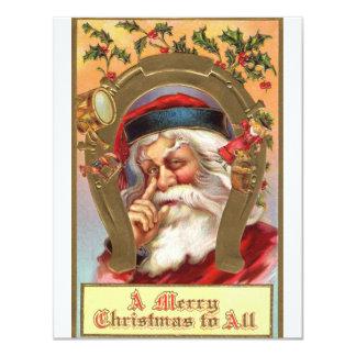 Vintage *Merry Christmas Santa* Card