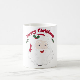 Vintage Merry Christmas Santa Coffee Mug