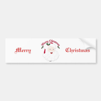 Vintage Merry Christmas Santa - script Bumper Sticker