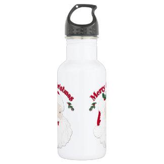 Vintage Merry Christmas Santa Stainless Steel Water Bottle