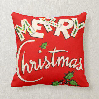 Vintage Merry Christmas Seasonal Pillows
