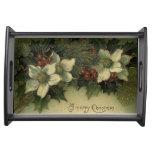 Vintage Merry Christmas Serving Tray