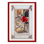 Vintage Merry Christmas - Welcome To Our Home Card