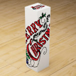 "Vintage Merry Christmas Wine Box<br><div class=""desc"">Vintage Merry Christmas</div>"