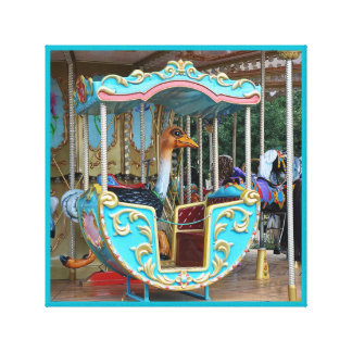 Vintage Merry-go-round ostrich ride series 30 Canvas Print