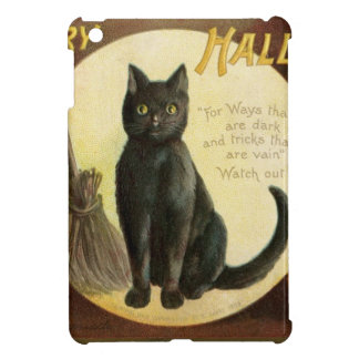 Vintage Merry Halloween - black cat and pumpkins Cover For The iPad Mini