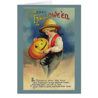 Vintage Merry Halloween Card