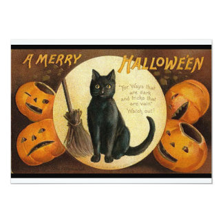 Vintage Merry Halloween Invitation