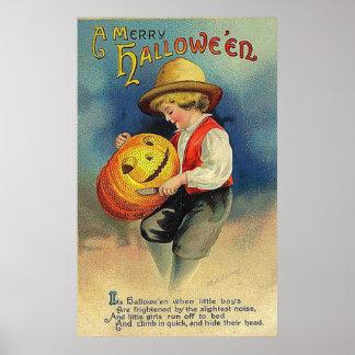 Vintage Merry Halloween Poster