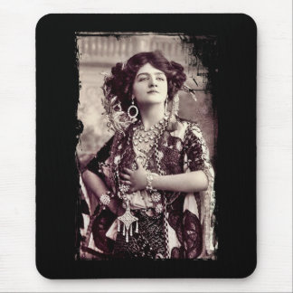Vintage Merry Widow with Lily Elsie Mouse Pad