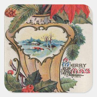 Vintage Merry Xmas Stickers