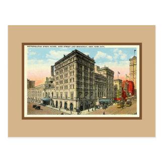 Vintage Met Opera House, 40th Street, Broadway NYC Postcard