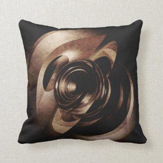 Vintage Metal Abstract Throw Pillows