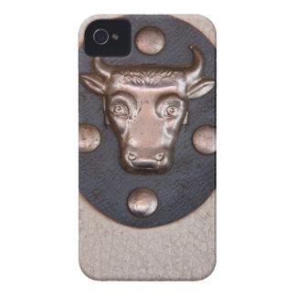 Vintage metal bull head iPhone 4 Case-Mate cases