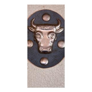 Vintage metal bull head custom rack cards