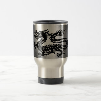 Vintage Metal Dragon Travel Mug