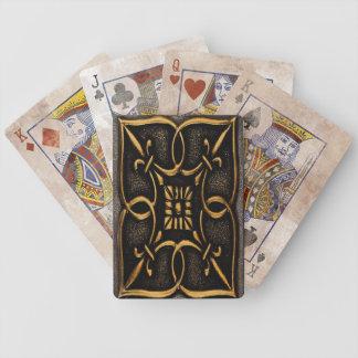 Vintage Metal Scroll Work Bicycle Playing Cards