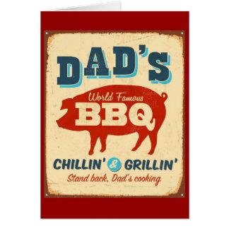 Vintage metal sign - Dad's BBQ Card