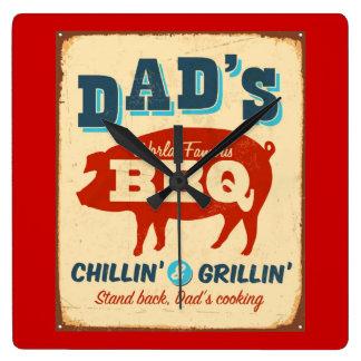 Vintage metal sign - Dad's BBQ Clock