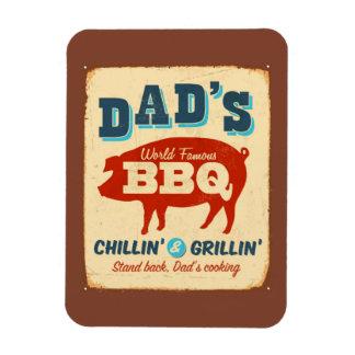 Vintage metal sign - Dad's BBQ Magnet