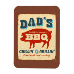 Vintage metal sign - Dad's BBQ Rectangular Photo Magnet