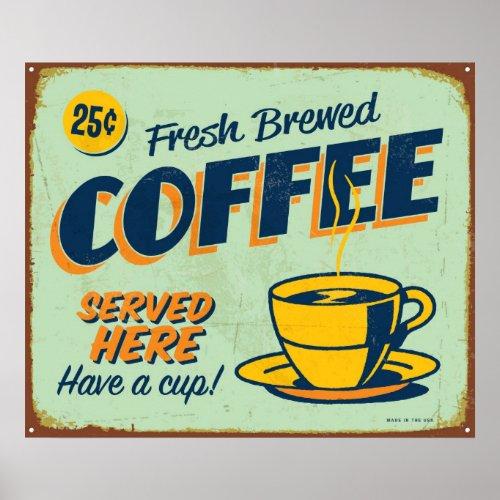 Vintage metal sign _ Fresh Brewed Coffee