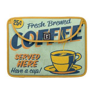 Vintage metal sign - Fresh Brewed Coffee MacBook Pro Sleeve