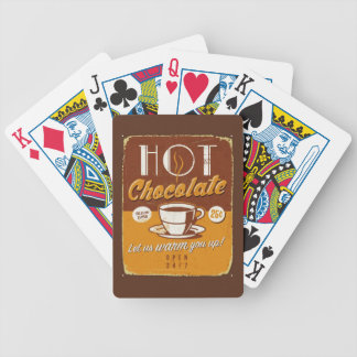Vintage metal sign - Hot Chocolate Bicycle Playing Cards