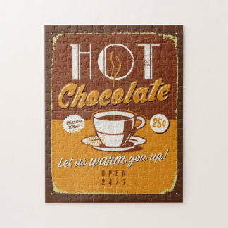 Vintage metal sign - Hot Chocolate Jigsaw Puzzle