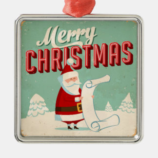 Vintage Metal Sign - Merry Christmas Metal Ornament
